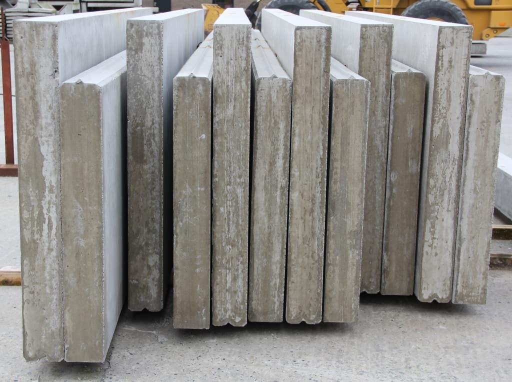 betonplinten met tand en groef