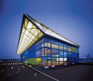 Interessant ontwerp van architect voor een industriegebouw