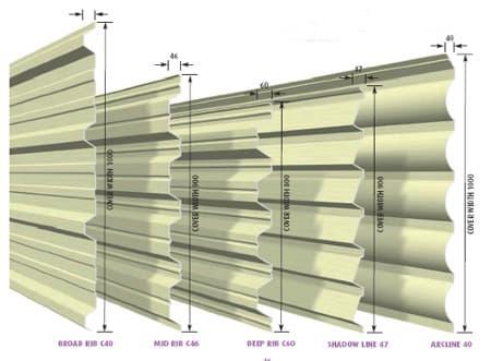 Metaal dakplaat in verschillende vormen