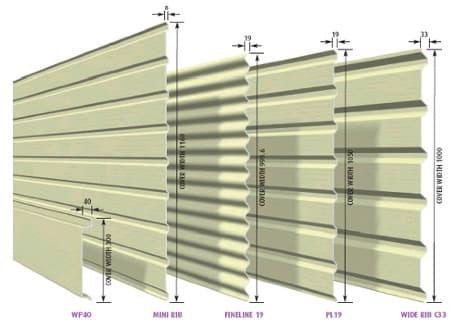 Profilering dakplaat in staal