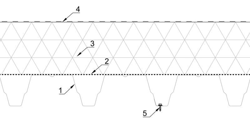 Plat dak met steeldeck opbouw isolatie met dakdichting