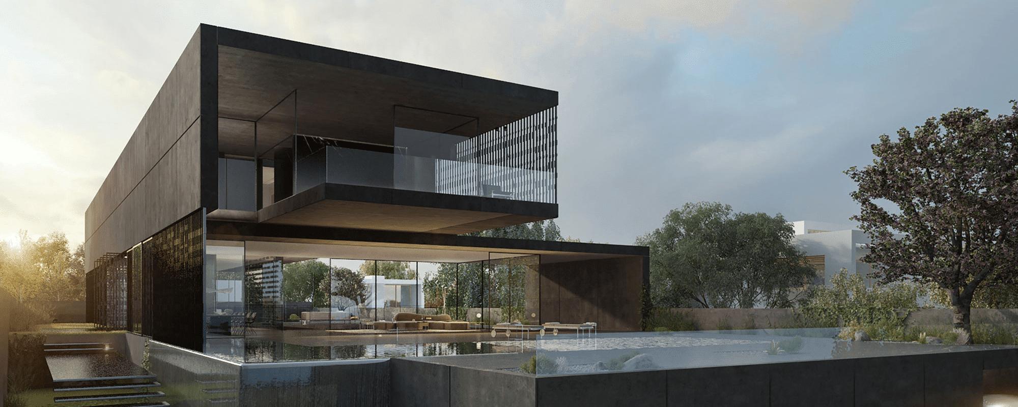 staalconstructie voor eigen huis met zwembad