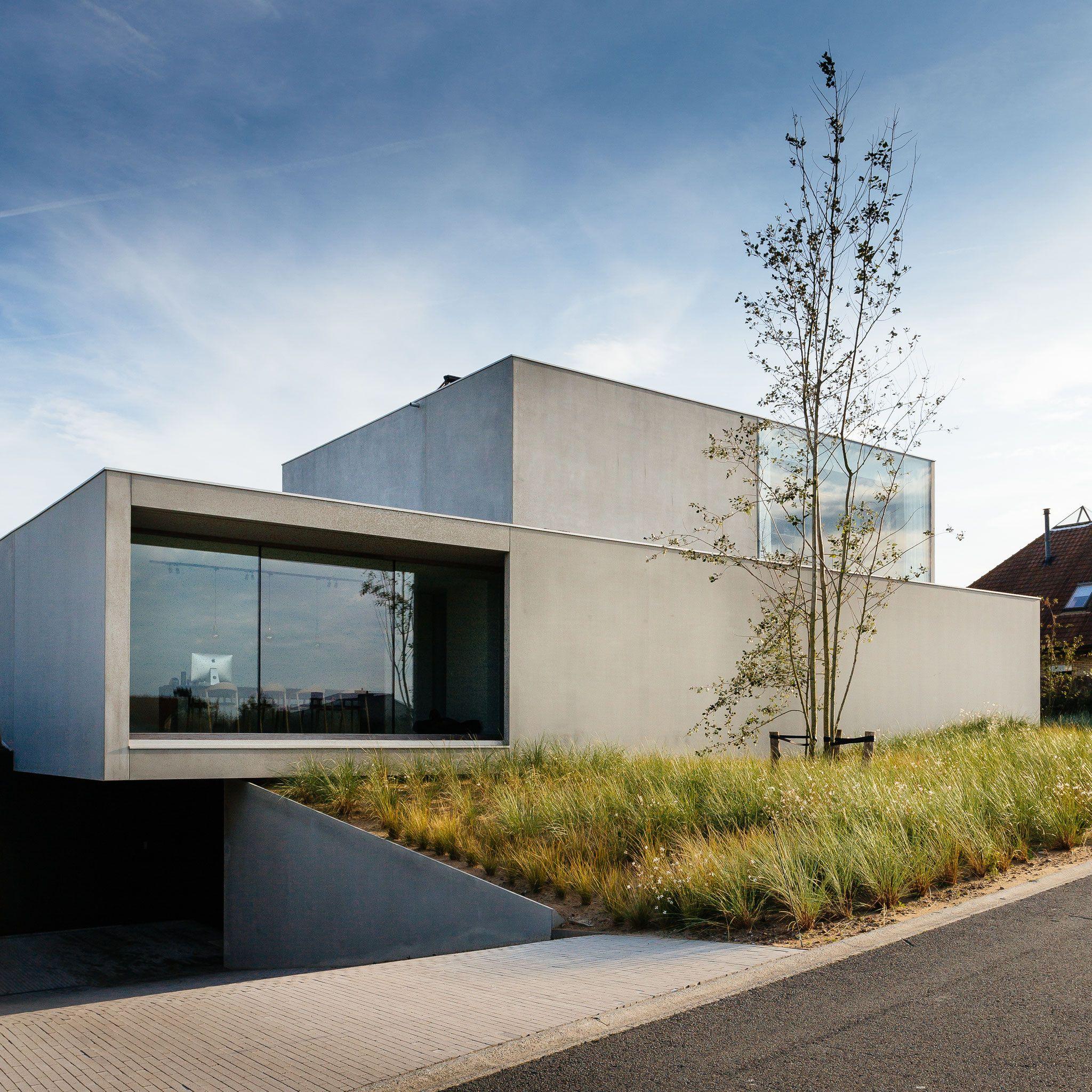 Woning in geïsoleerde betonpanelen