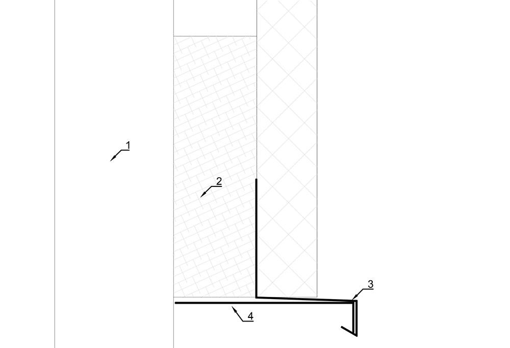 Detail druiplijst boven deuropening